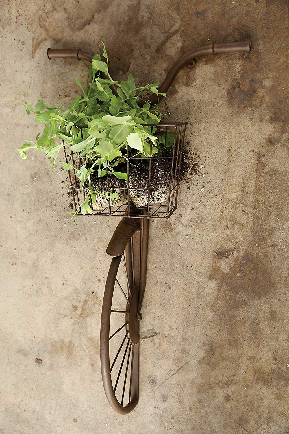 Creative Co-Op Iron Bike Shape Wall Decor with Basket