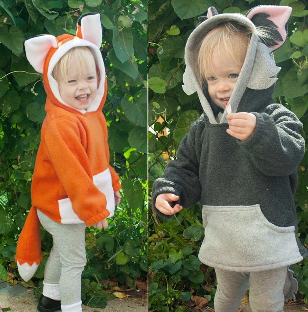 Baby Kids Boys Girls Cute Fox Cloak Hooded Outfits Hoodie Coat Outwear Jacket