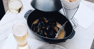 Staub Cast Iron 2-qt Mussel Pot Matte Black