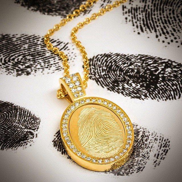 Fingerprint Pendant | | Jason of Beverly Hills