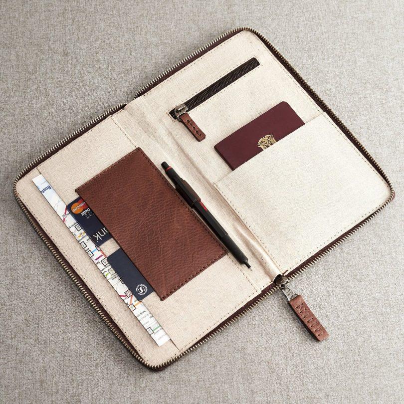 Brown Passport Holder