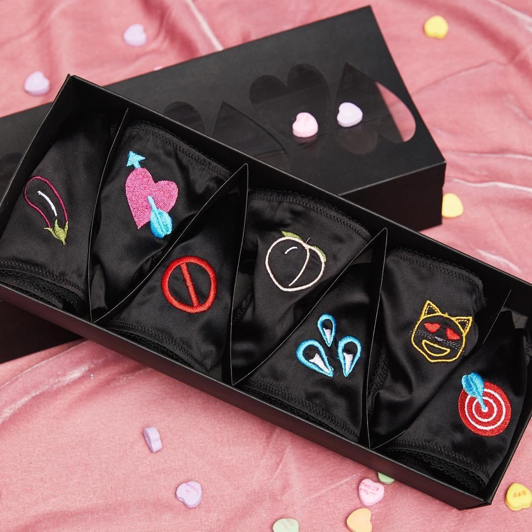 Naughty Emojis Thong Set x Alison Lou