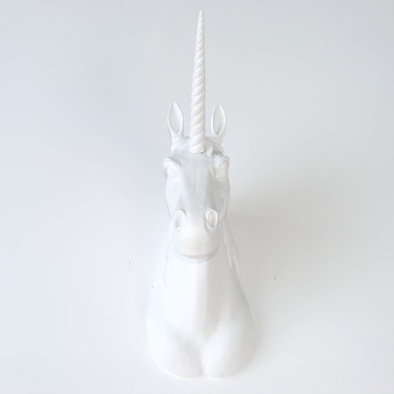Pine Ridge White Unicorn Head Wall Mounted Sculpture Decoration
