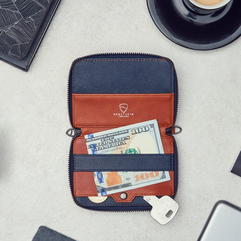Notting Hill Slim Zip RFID Protection Wallet by Vaultskin