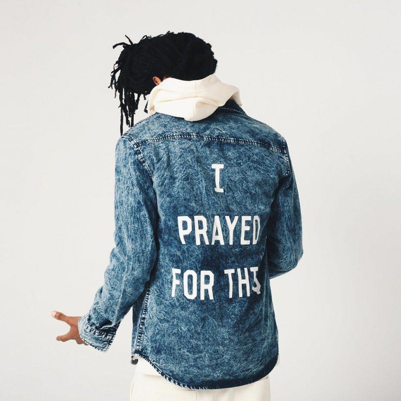Prayed Denim Button-Up Shirt