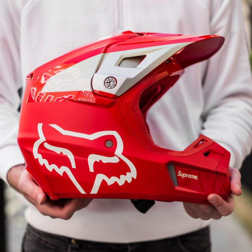 Supreme Fox Racing V2 Helmet Red