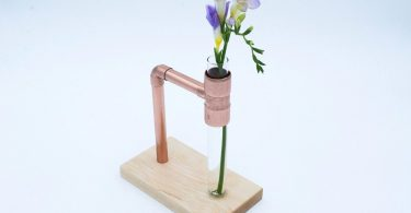 Copper & Maple Flower Vase