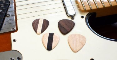 Hardwood Guitar Picks (Set of 4)
