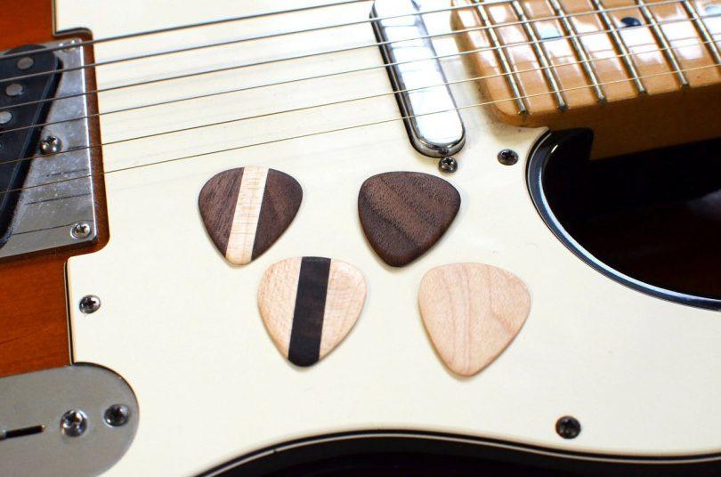 Hardwood Guitar Picks (Set of 4)