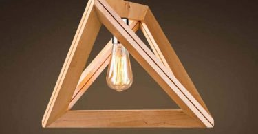 Belief Rebirth Nordic Wooden Pendant Lamp Geometric Triangle