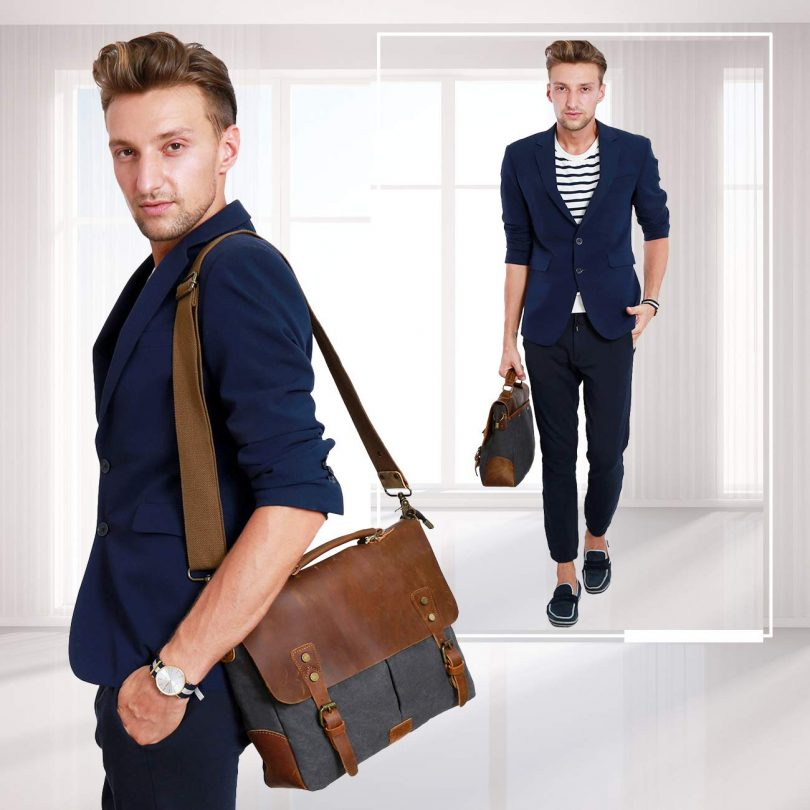 Wowbox Messenger Satchel Bag for Men