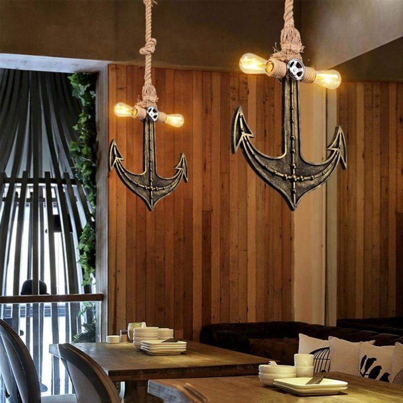 THD Industrial Retro Style Pendent Lamp Hemp Rope Loft Wood
