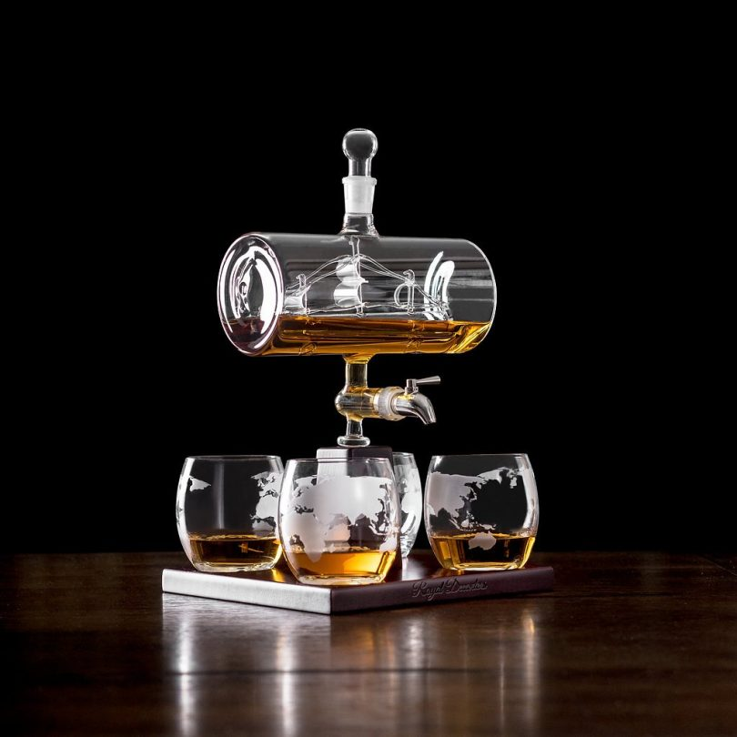 Royal Decanters Sailing Ship Set