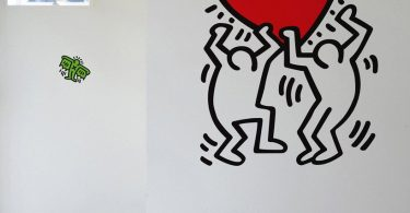 BLIK Keith Haring Untitled Heart Removable Wall Decal