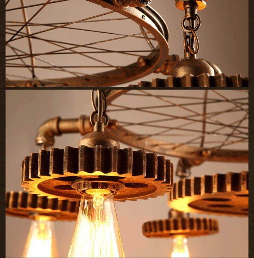 JinYuZe 7 Lights Industrial Ceiling Pendant Light