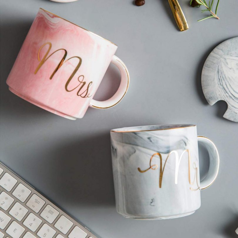 Mr and Mrs Couples Mug Set