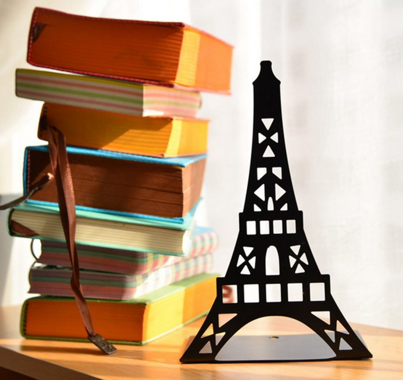 Fasmov Eiffel Tower Nonskid Bookends Art Bookend