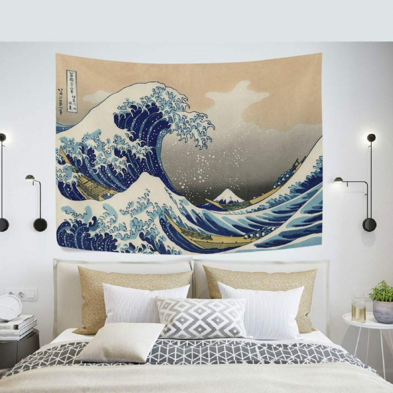 The Great Wave Kanagawa Curtain Tapestry