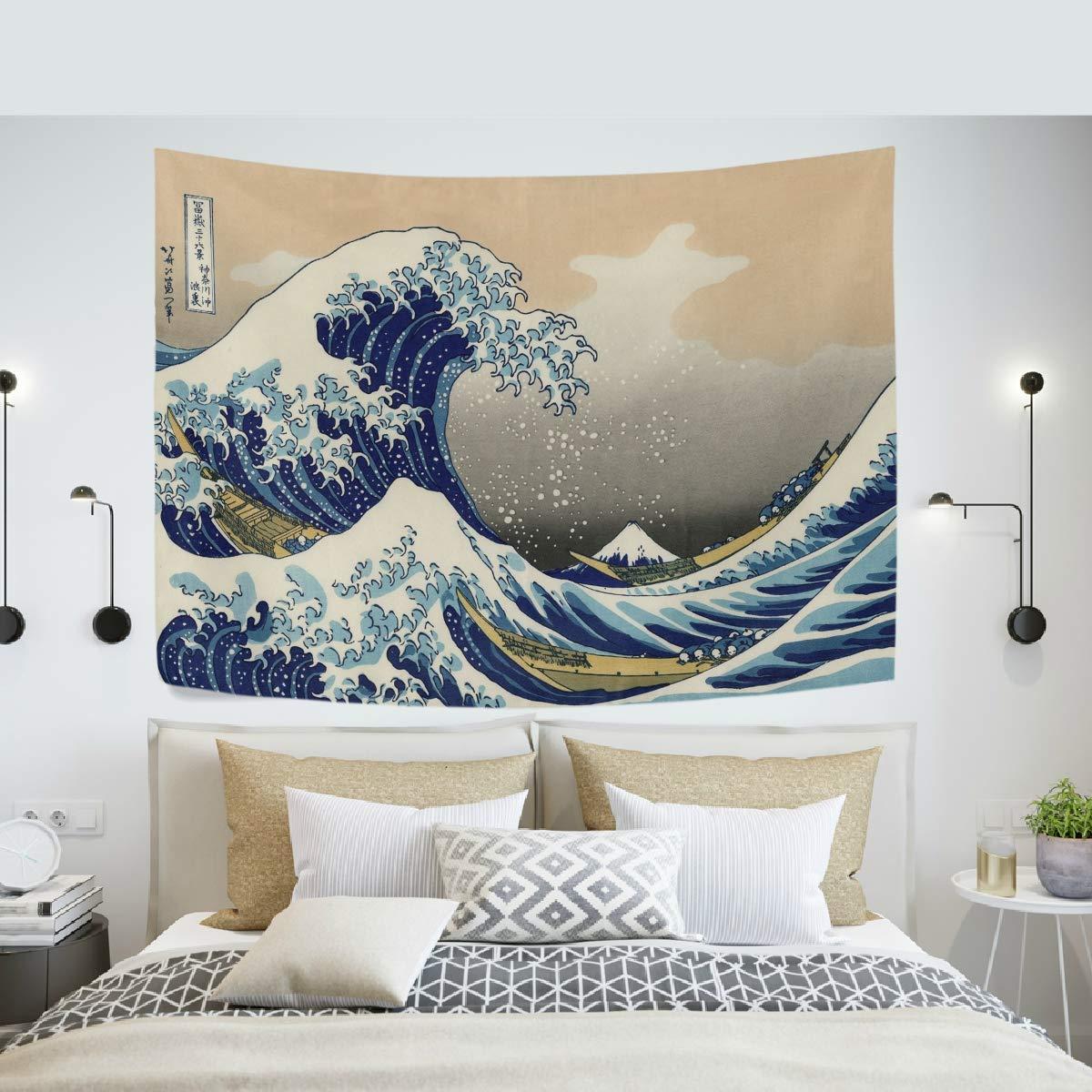 The Great Wave Kanagawa Curtain Tapestry