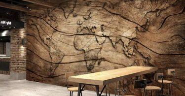 Murwall Map Wallpaper