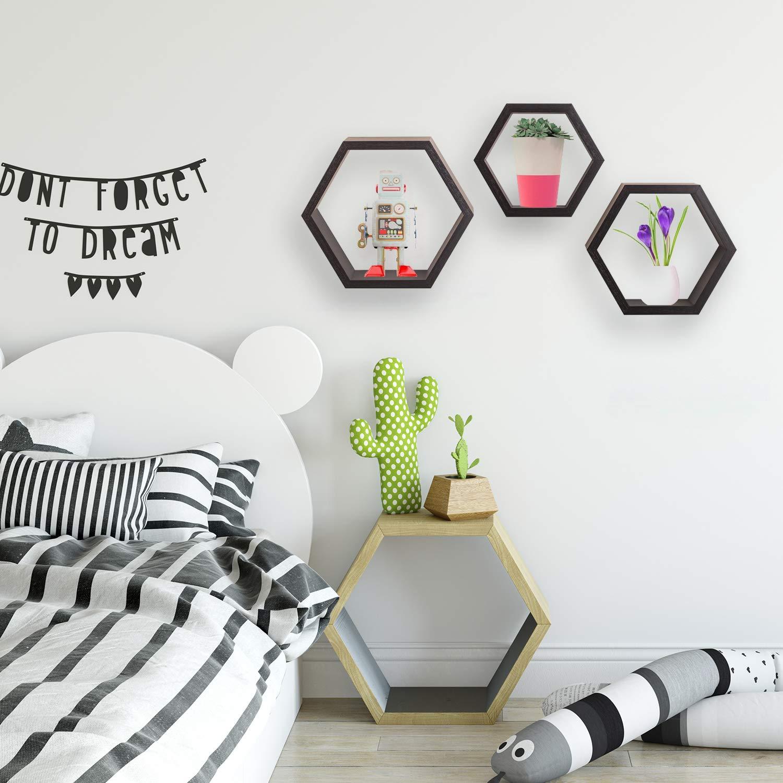 Halter Hexagonal Shaped Floating Shelves