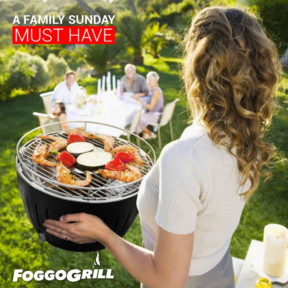 Charcoal BBQ Grill W/Battery Operated Fan