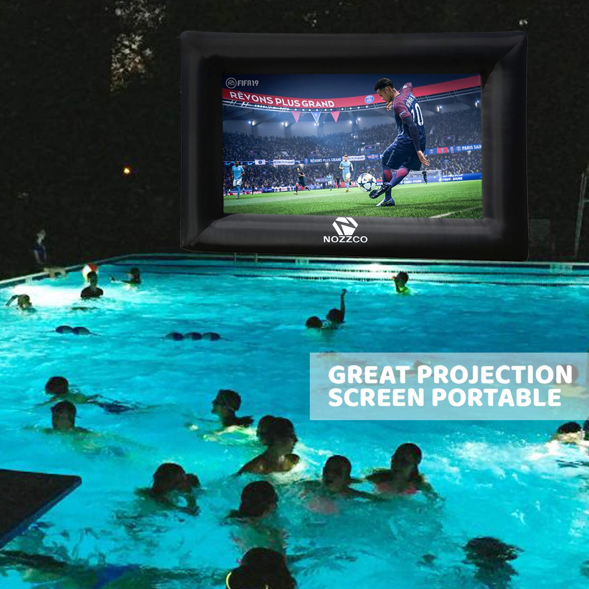Outdoor Movie Screen – 16 FT Inflatable Projector Screen