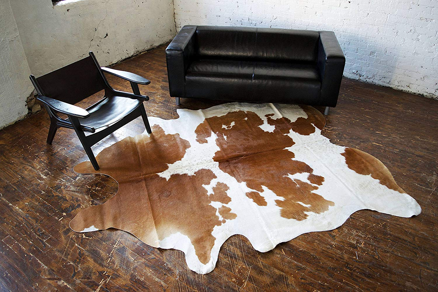 A-STAR Genuine Cowhides Brown And White