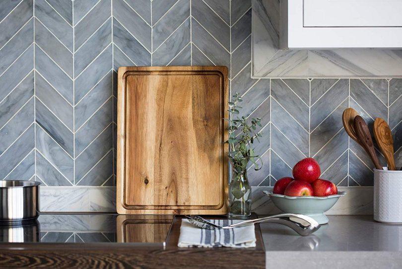 Large Reversible Multipurpose Thick Acacia Wood Cutting Board