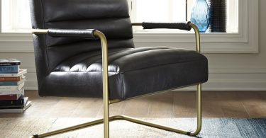 Mumu Platner Rose Gold Accent Chair