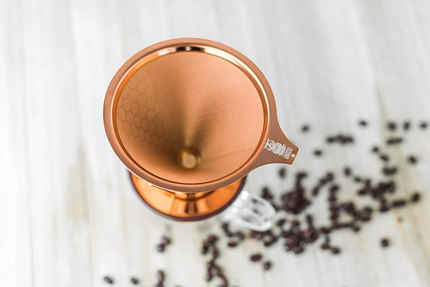 Hibou – Copper Coated Pour Over Coffee Dripper