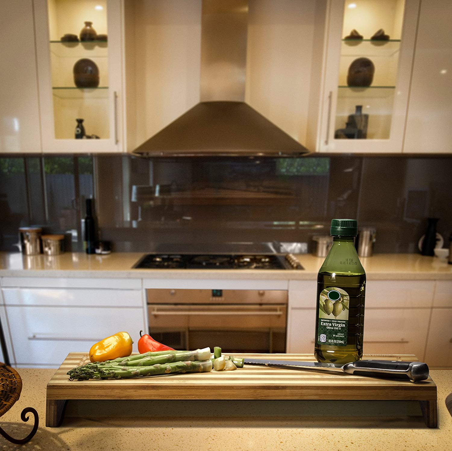 Prosumer's Choice Dual-purpose Bamboo Stovetop cover workspace
