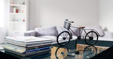 IOTC IR 2040-VC Retro Classic Decorative Iron Bicycle Black