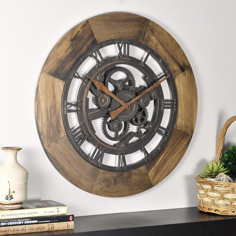 FirsTime & Co. 00237 Wood Gear Wall Clock