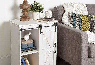 Kate and Laurel Cates Wooden Freestanding Storage Cabinet