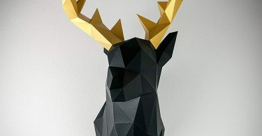 Papertrophy Deer Black & Gold