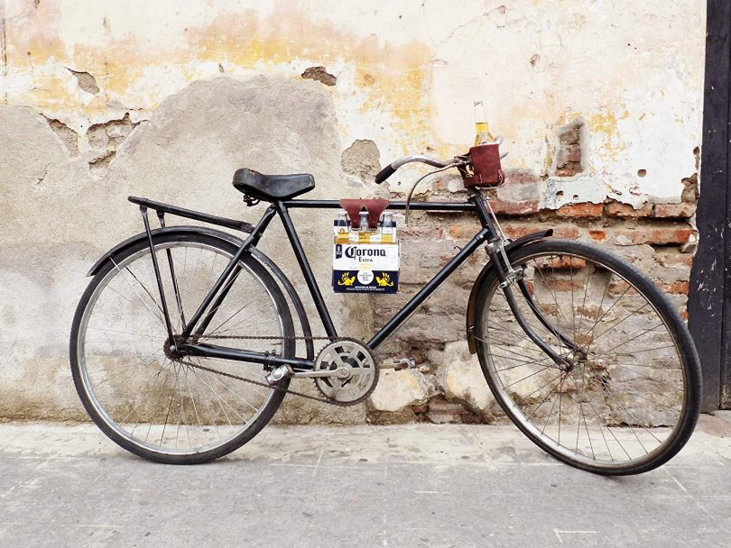 Six-Pack Bike Cinch (Bicycle Beer Carrier) Handmade by Hide & Drink
