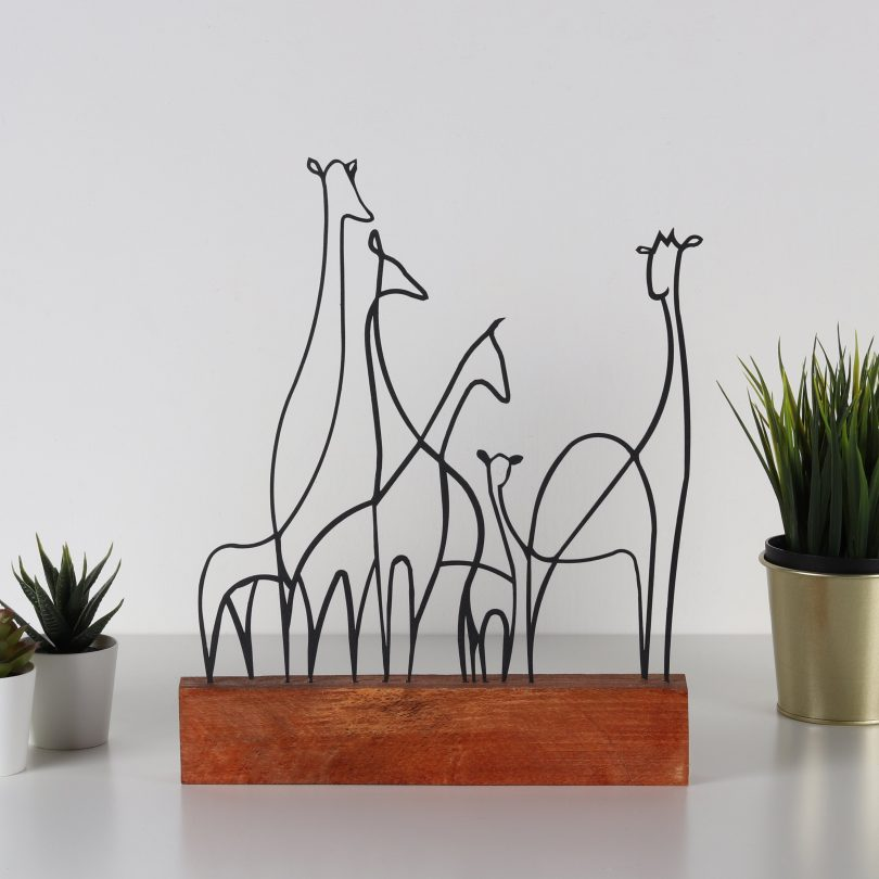 GIRAFFE | Metal Wood Decor