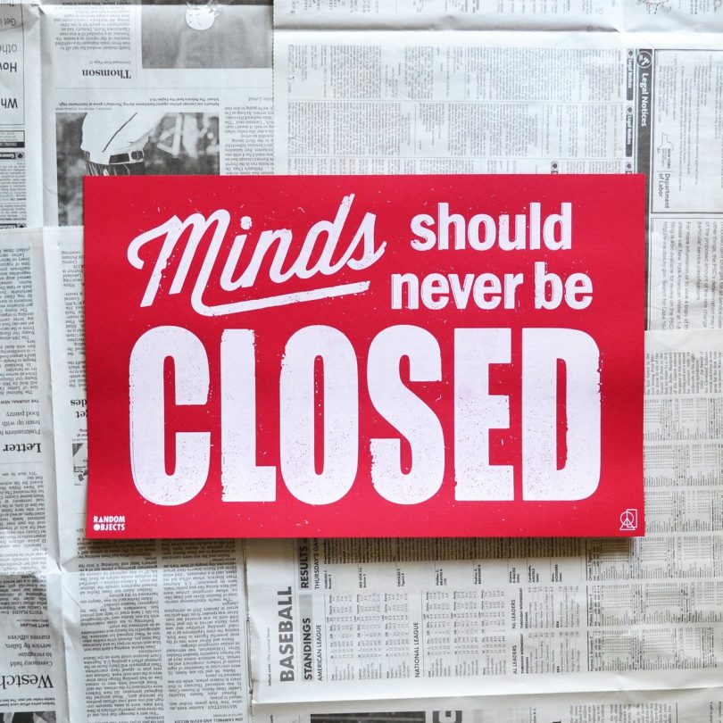 Closed Poster by Random Objects