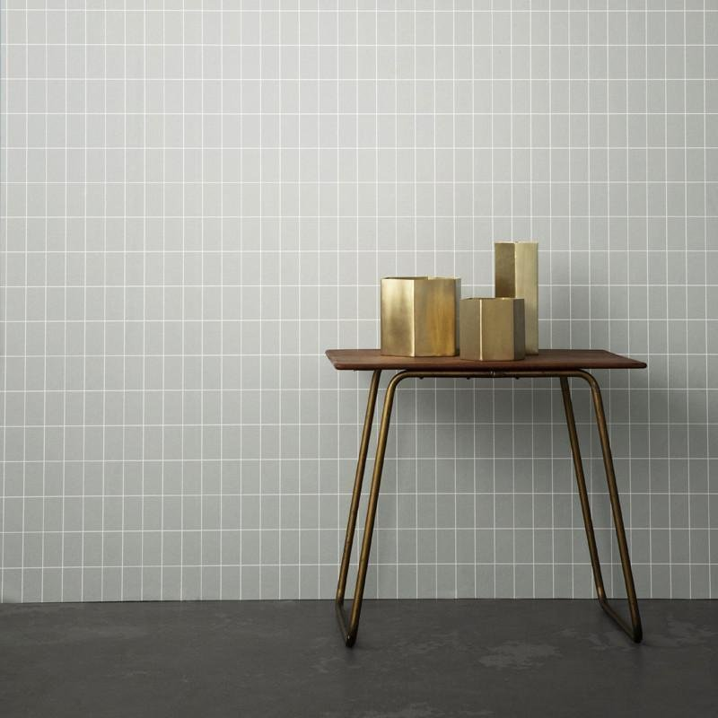 Hexagon Brass Pot design by Ferm Living
