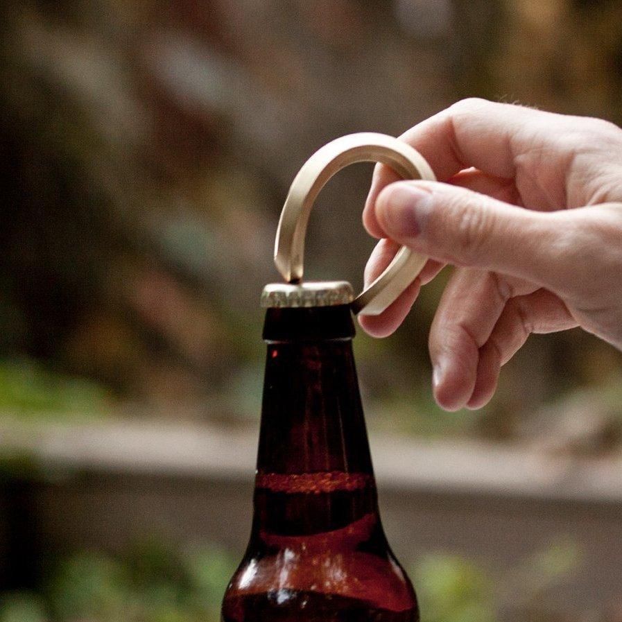 Trophy Brass Bottle Opener