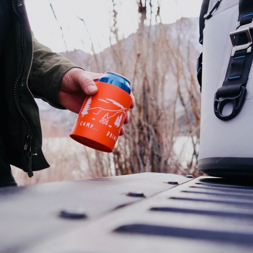 Camp Drink Repeat Foam Can Cooler by SUPERKOLDIE