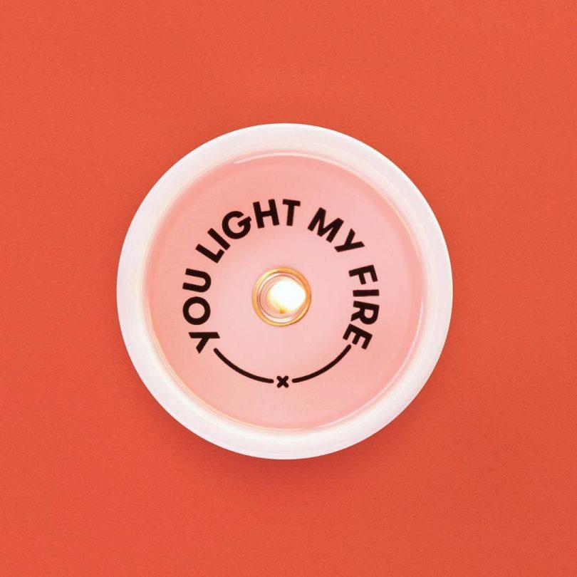 Secret Message Candle