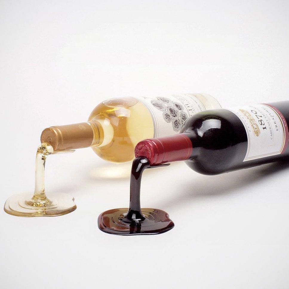 Spilled Wine Bottle Holder Set
