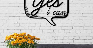 Yes I Can Modern Metal Wall Art