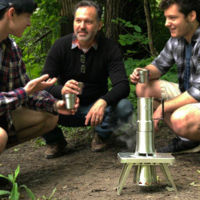 Espresso-Style Camp Coffee Maker