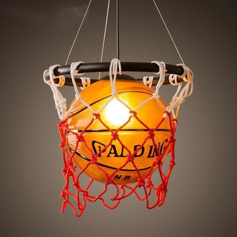 Vintage Luminaria Basketball Pendant Hanging Lamp