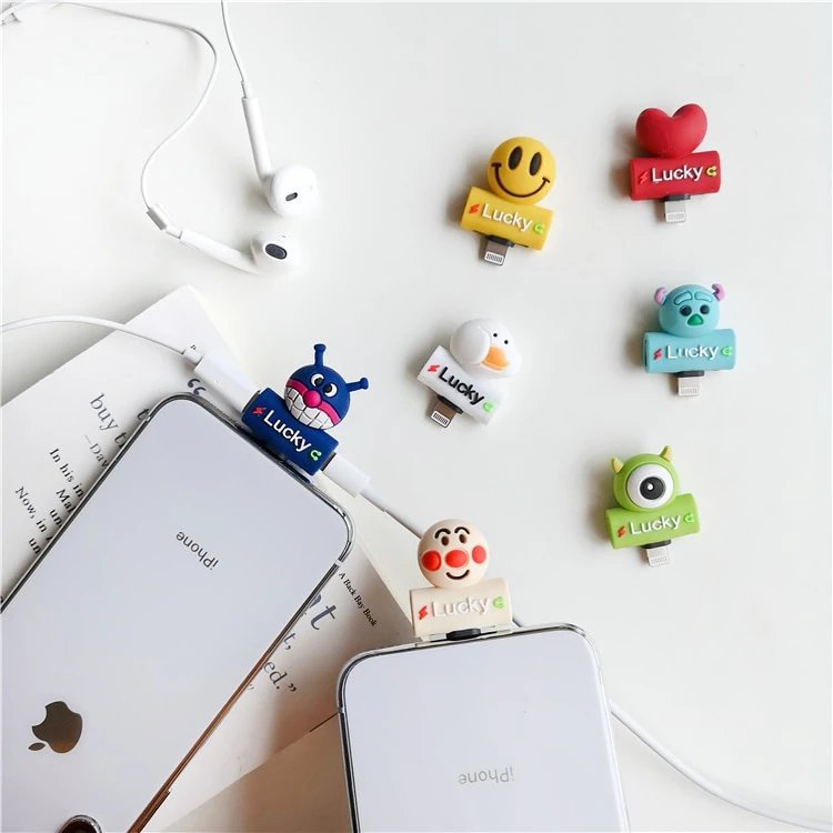 Cute Silicone iPhone Lighting Splitter Adapter