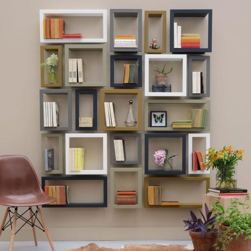 Framed Wall Stick Shelves by Presse Citron