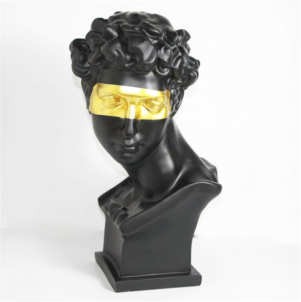 DevilLover Black Man Golden Eye Sculpture,Retro Ornaments Creative Gift Modern